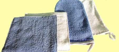 100% pamutból készült frottier mosdató kendő.